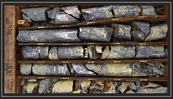 Drill Core from hole 7069